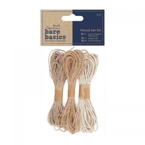 Papermania Natural Jute Set (3pcs)