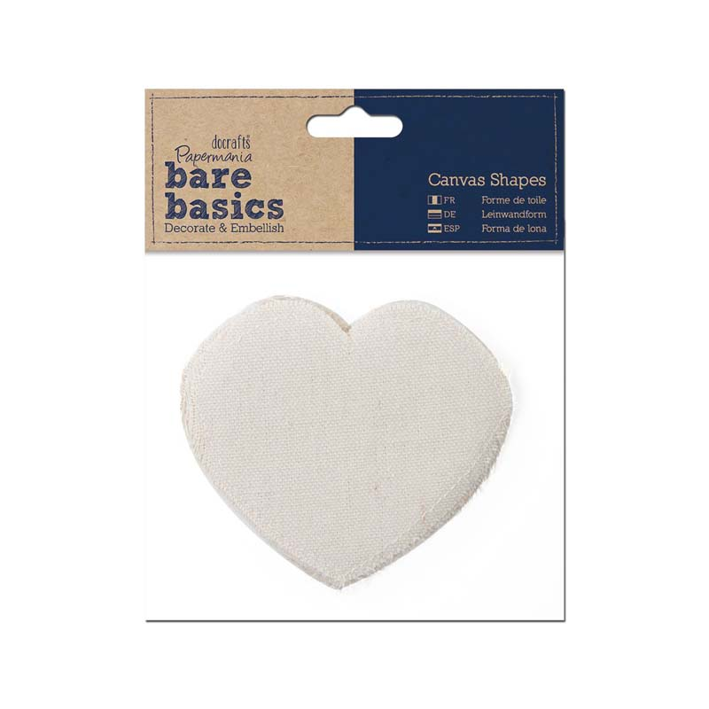 papermania canvas shape 6pk heart