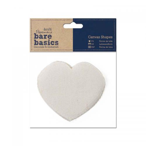 Papermania Canvas Shape (6pk) - Heart