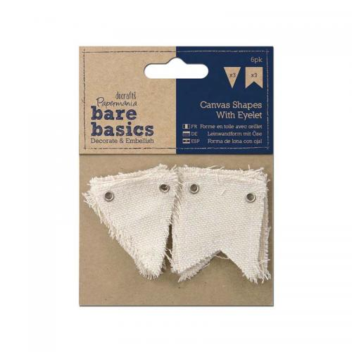 Papermania Canvas Shape with eyelet (6pk) - Small/Large Flag