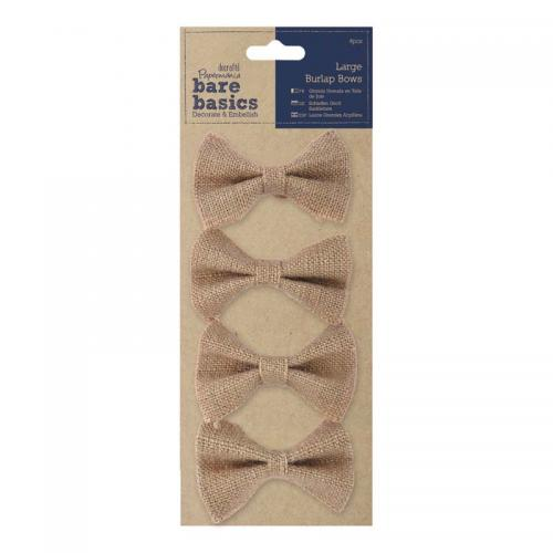 Papermania Large Burlap Bows (4pcs)