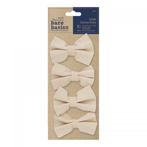 Papermania Large Canvas Bows (4pcs)