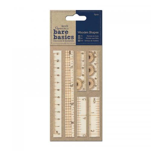 Papermania Wooden Ruler Shapes (6pcs)