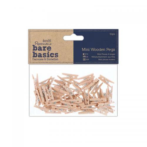 Papermania Mini Wooden Pegs (50pk)