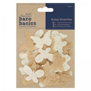 Papermania Burlap Butterflies (40pcs)