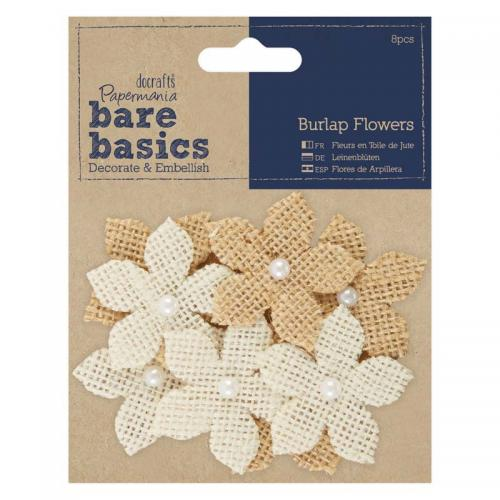 Papermania Burlap Flowers (8pcs)