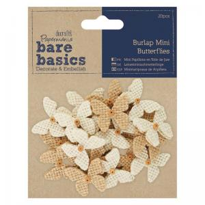 Papermania Burlap Mini Butterflies (20pcs)