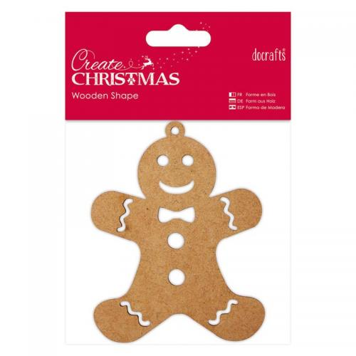 Wooden Shape - Gingerbread Man