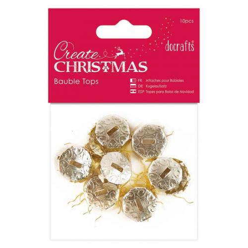 Create Christmas Bauble Tops (10pcs) - Gold