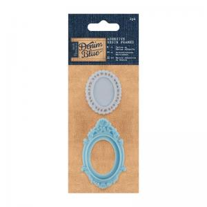 Adhesive Resin Frames (2pk) - Denim Blue