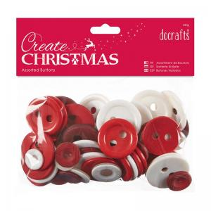 Create Christmas Assorted Buttons (250g) - Nordic Christmas
