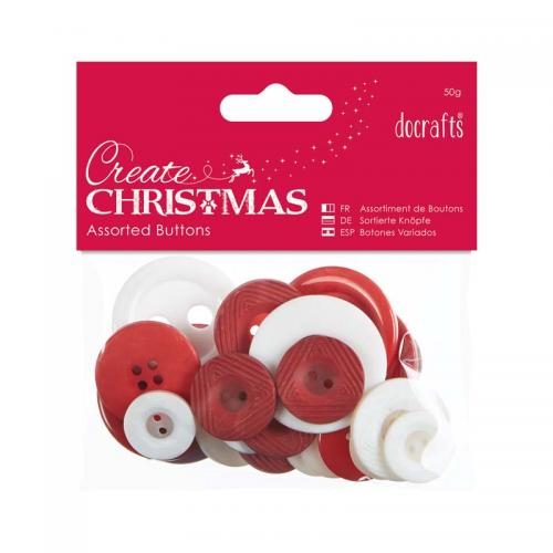 Assorted Buttons (50g) - Nordic Christmas