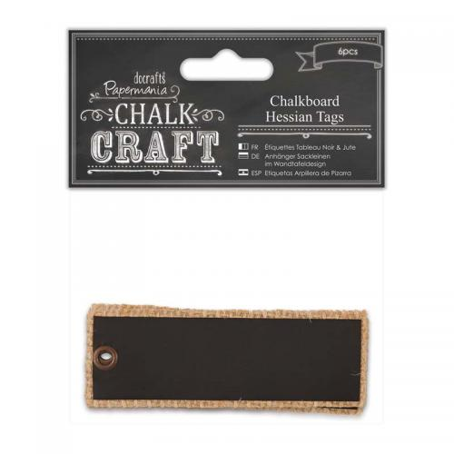 Papermania Chalkboard Hessian Tags (6pcs)