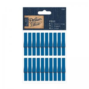 Pegs (20pk) - Denim Blue