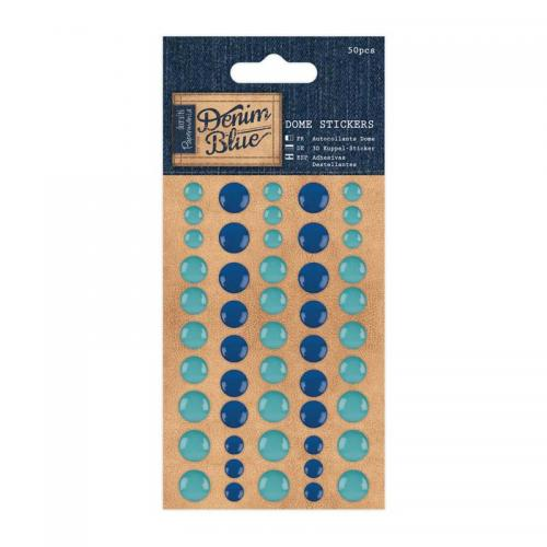 Dome Stickers (50pcs) - Denim Blue