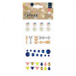Embellishments  (39 pcs)  Geometric Kraft