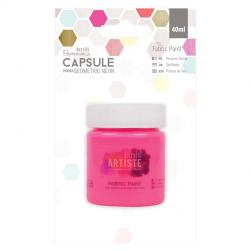 Fabric Paint - Capsule - Geometric Neon - Pink
