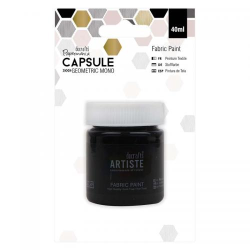 Fabric Paint - Capsule - Geometric Mono - Black