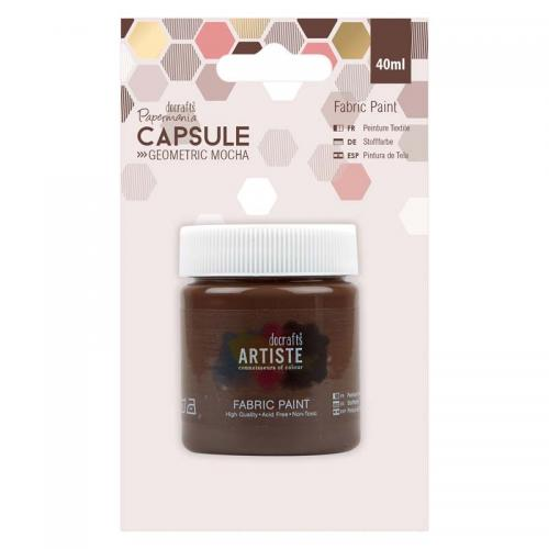 Fabric Paint - Capsule - Geometric Mocha - Brown