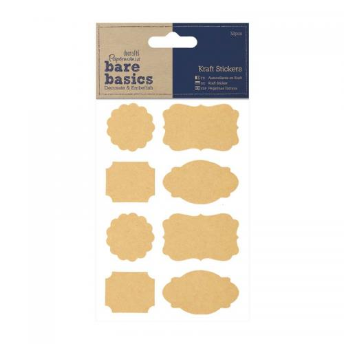 Kraft Stickers (32pcs) - Parenthesis