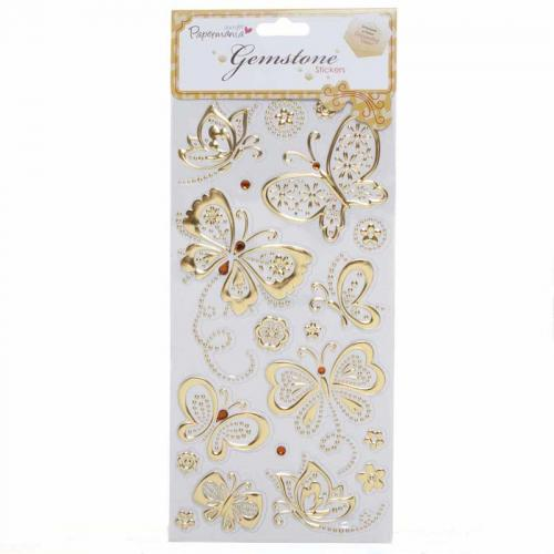 Gemstone Stickers - Butterflies