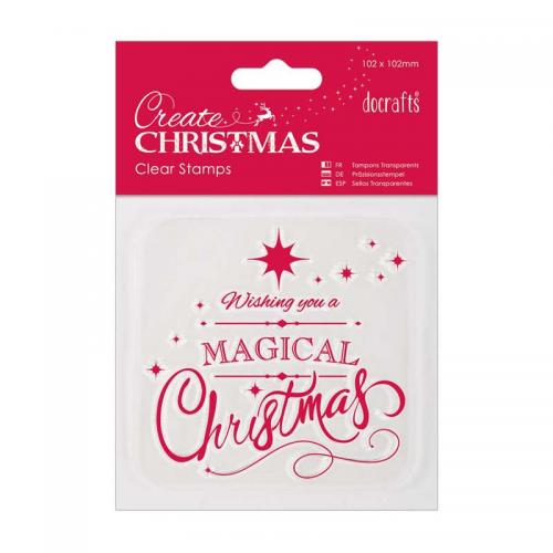 102 x 102mm Mini Clear Stamp - Magical Christmas