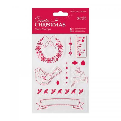 105 x 148.5mm Mini Clear Stamp - Christmas Icons