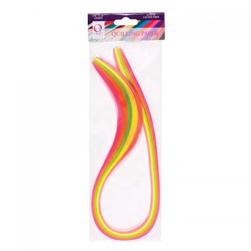 "3mm Paper Strips (100pcs) 1/8 x 21"" - Neon (5 Colours)"