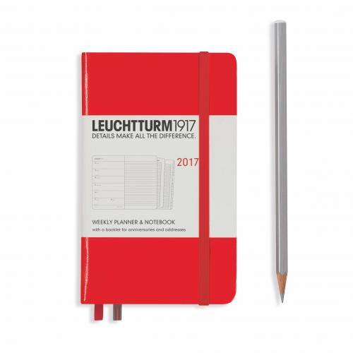 Leuchtturm 1917 Weekly Planner and Notebook Pocket (A6) 2017