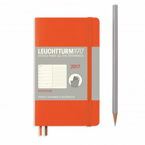 Leuchtturm 191 Weekly Planner and Notebook Softcover (A6) 2017