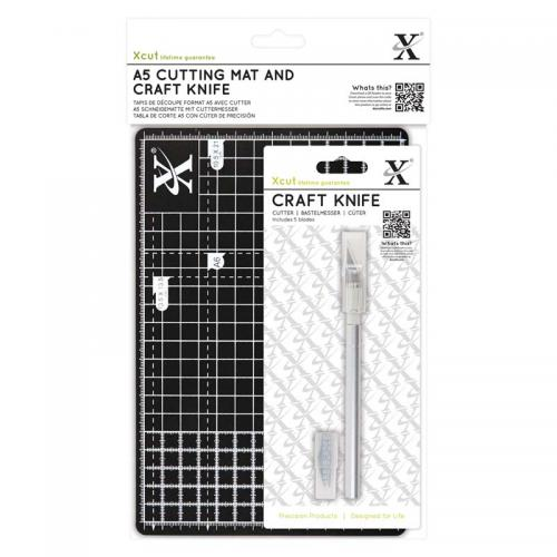 Xcut A5 Cutting Mat and Craft Knife Set