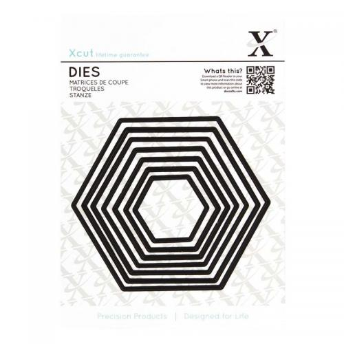 Xcut Dies (7pcs) - Nesting Hexagons