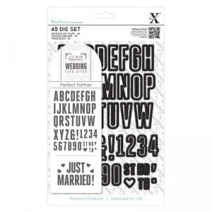 Xcut A5 Die Set (48pcs) - Wedding Alphabet & Numbers