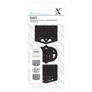 Xcut Small Dies (3pcs) - Wedding Invite
