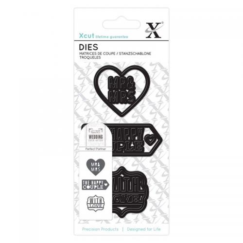Xcut Small Dies (3pcs) - Wedding Mr & Mrs