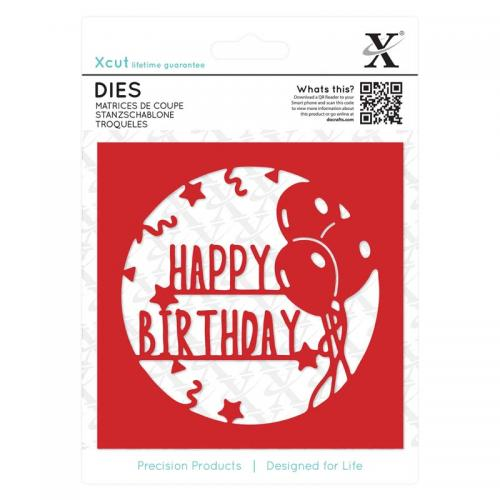 Xcut Dies (1pc) - Happy Birthday Topper