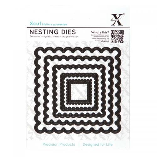 Xcut Nesting Dies (5pcs) - Scalloped Square
