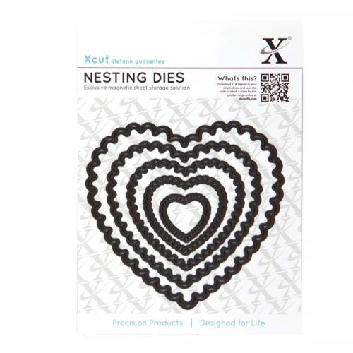 Xcut Nesting Dies (5pcs) - Scalloped Heart