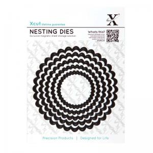Xcut Nesting Dies (5pcs) - Scalloped Circle