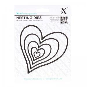 Xcut Nesting Dies (5pcs) - Homespun Heart