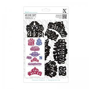 Xcut A5 Dies Set (8pcs) - Ornate Sentiments