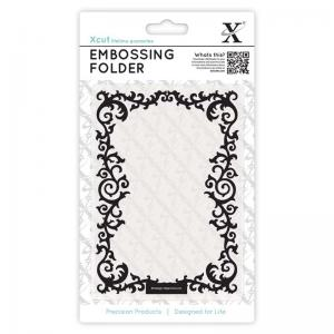 Xcut A6 Embossing Folder - Leafy Border