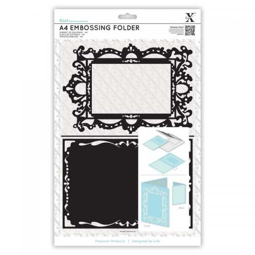 Xcut A4 Embossing Folder - Ornate Frame