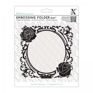 Xcut 6 x 6'' Embossing folder - Rose Frame