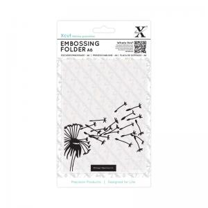 Xcut A6 Embossing Folder - Blowing Dandelions