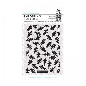 Xcut A6 Embossing Folder - Oak Leaf Pattern