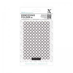 Xcut A6 Embossing Folder - Moroccan Flower Tiles