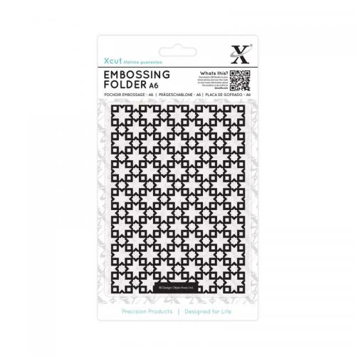 Xcut A6 Embossing Folder - Moroccan Star Tiles