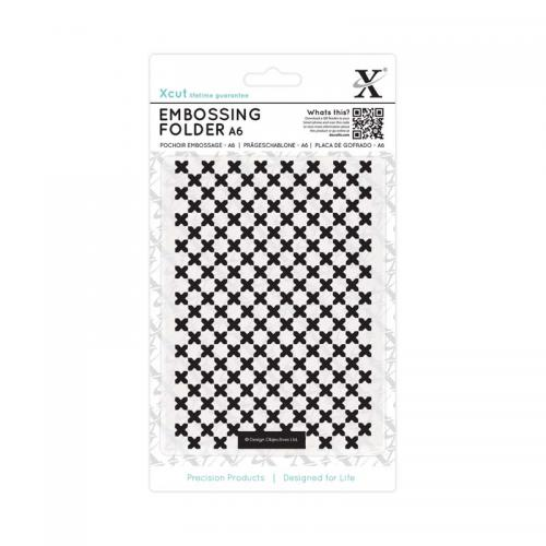 Xcut A6 Embossing Folder - Moroccan Cross Tiles