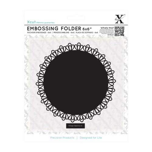 "Xcut 6 x 6"" Embossing Folder - Filigree Circle"